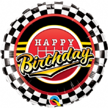 "Birthday Checkered Foil Balloon (18"") 1pc"